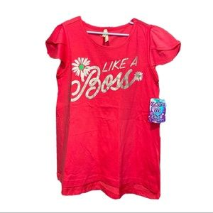 3/20 Girls like a boss tee, short sleeve,10/12 NWT